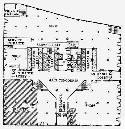 Chrysler Building entrance lobby map (Image:New York Public Library)
