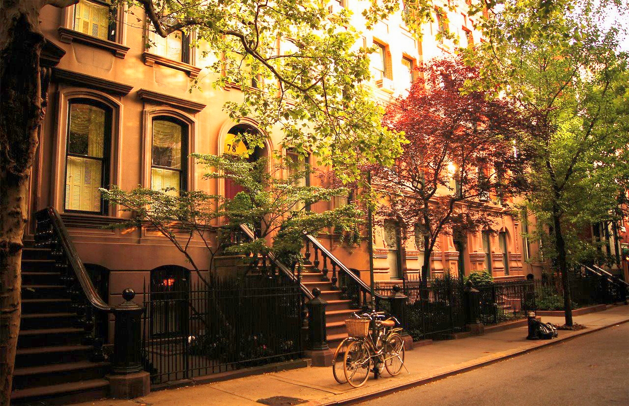 New York is a collection of villages. In this picture, the Greenwich Village