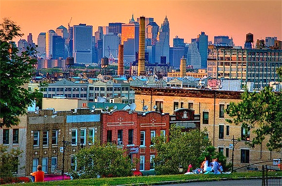 Brooklyn and Manhattan skyline