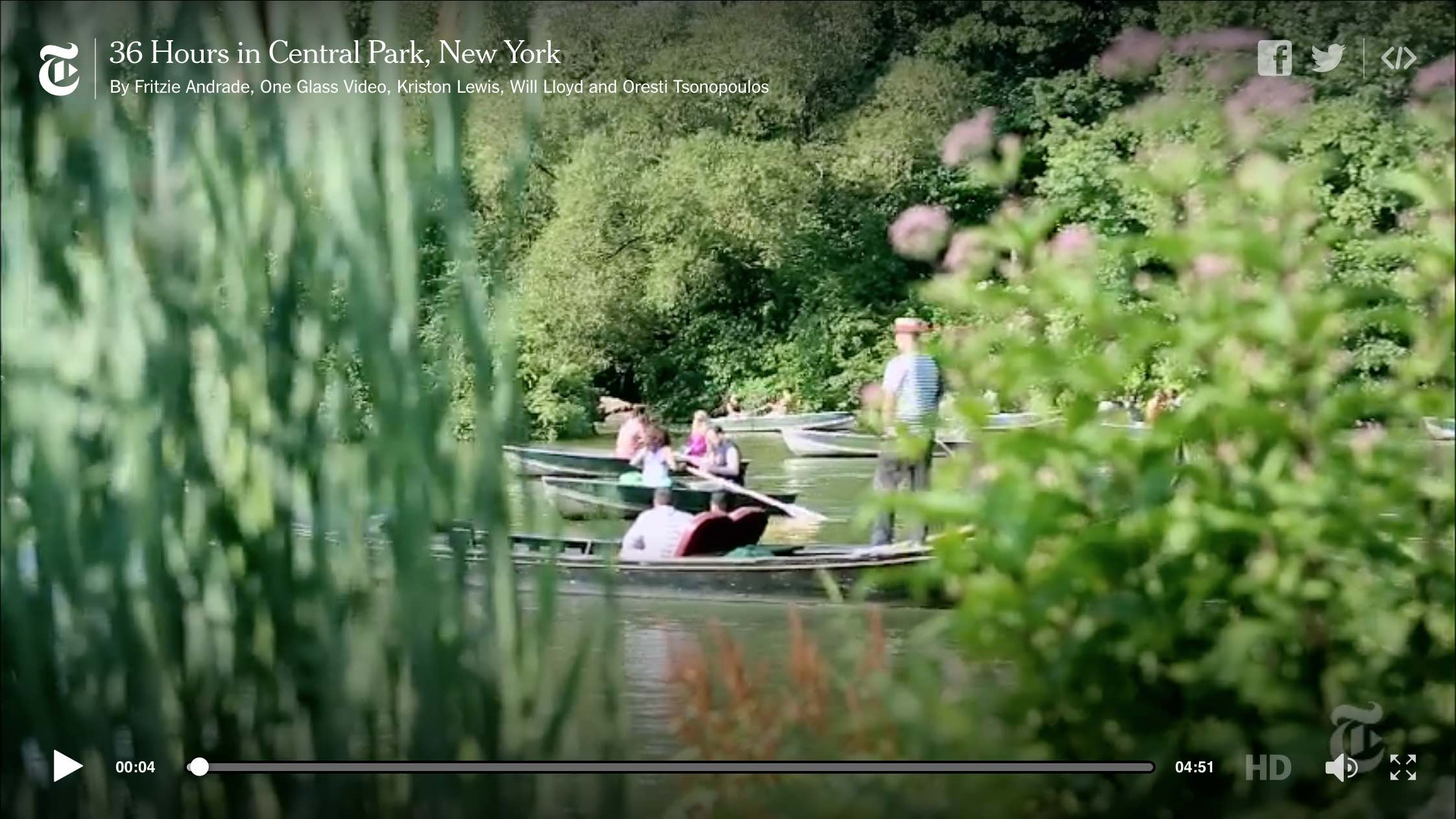 With its endless trails, hidden nooks, museums and nearby night spots, Central Park is that rare tourist destination that is also a pleasure ground for locals. By Fritzie Andrade, One Glass Video, Kriston Lewis, Will Lloyd and Oresti Tsonopoulos on Publish Date: September 17, 2014. Photo by Piotr Redlinski for The New York Times. Watch  in Times  Video »