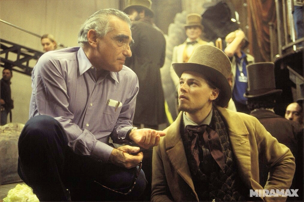 "Martin Scorsese directing Leonardo DiCaprio in ""Gangs of New York"" (Image: courtesy of Miramax)"