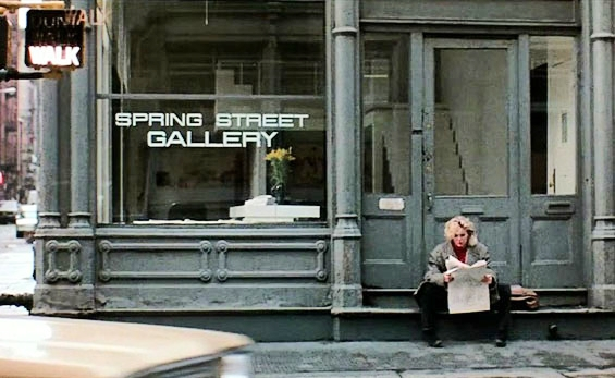 """9 1/2 Weeks"" – Kim Basinger at Spring Street Gallery, 1  01 Spring Street and Green Street,   Soho"