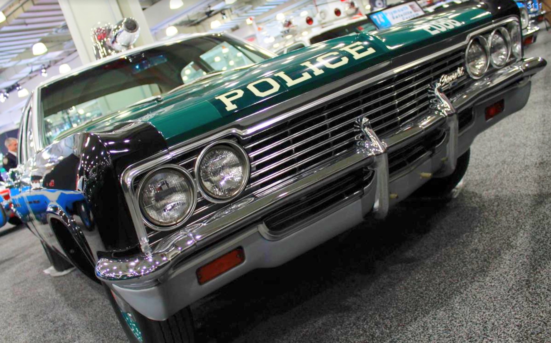 1966 CHEVROLET BISCAYNE –  This Chevy Biscayne once patrolled the NYPD's 18th Precinct, also known as the Midtown North Precinct.