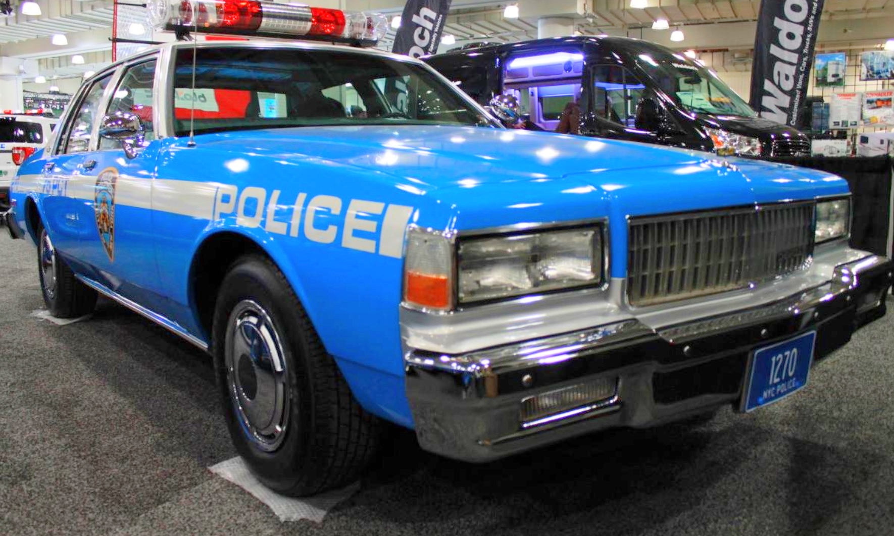 1989 CHEVROLET CAPRICE –  This '89 Chevrolet Caprice is dedicated to fallen NYPD Officer Edward Byrne who was killed in the line of duty in 1988 when two men shot him while he was sitting in a similar patrol car in South Jamaica, Queens.