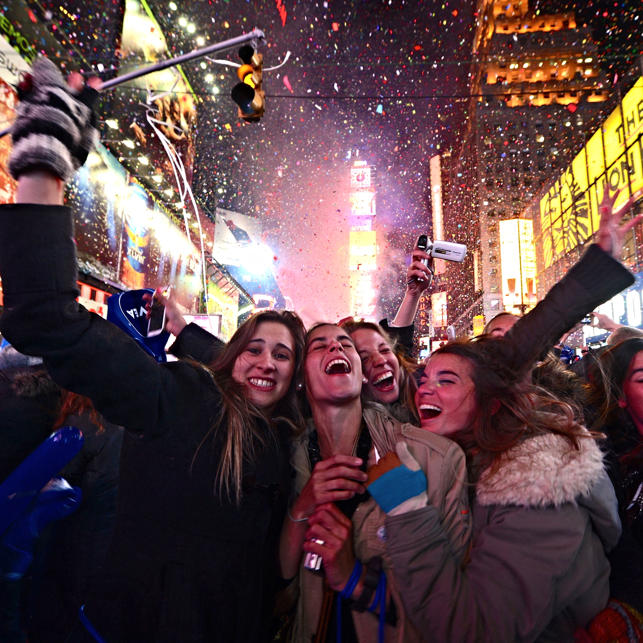 As the famous New Year's Eve Ball descends atop One Times Square, an estimated one million people in Times Square, millions nationwide and over a billion watching throughout the world are united in bidding a collective farewell to the departing year, and expressing joy and hope for the year ahead.
