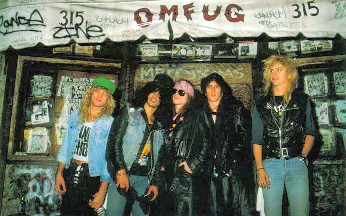 Guns N' Roses at CBGB (1987).