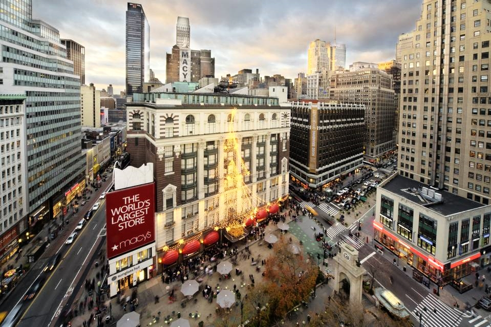 Macy's flagship store on 34th Street at Herald Square