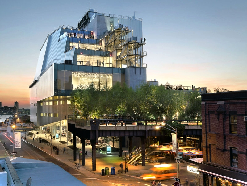Designed by architect Renzo Piano and situated between the High Line and the Hudson River, the Whitney's new building vastly increases the Museum's exhibition and programming space, offering the most expansive display ever of its unsurpassed collection of modern and contemporary American art. (Photo: Ed Lederman)