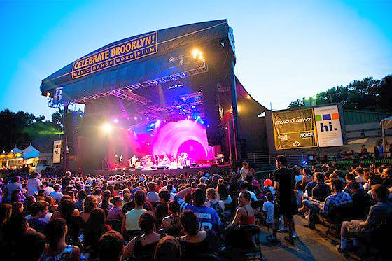 Summer music concert in Prospect Park, Brooklyn
