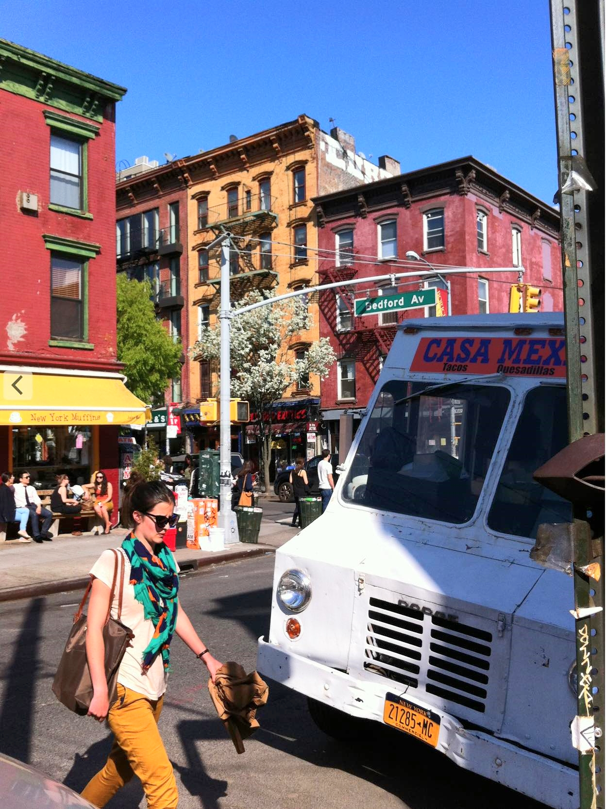 Williamsburg is just 3 subway stops away from Union Square / 14th Street, in Manhattan. Take the L train to Bedford Avenue.
