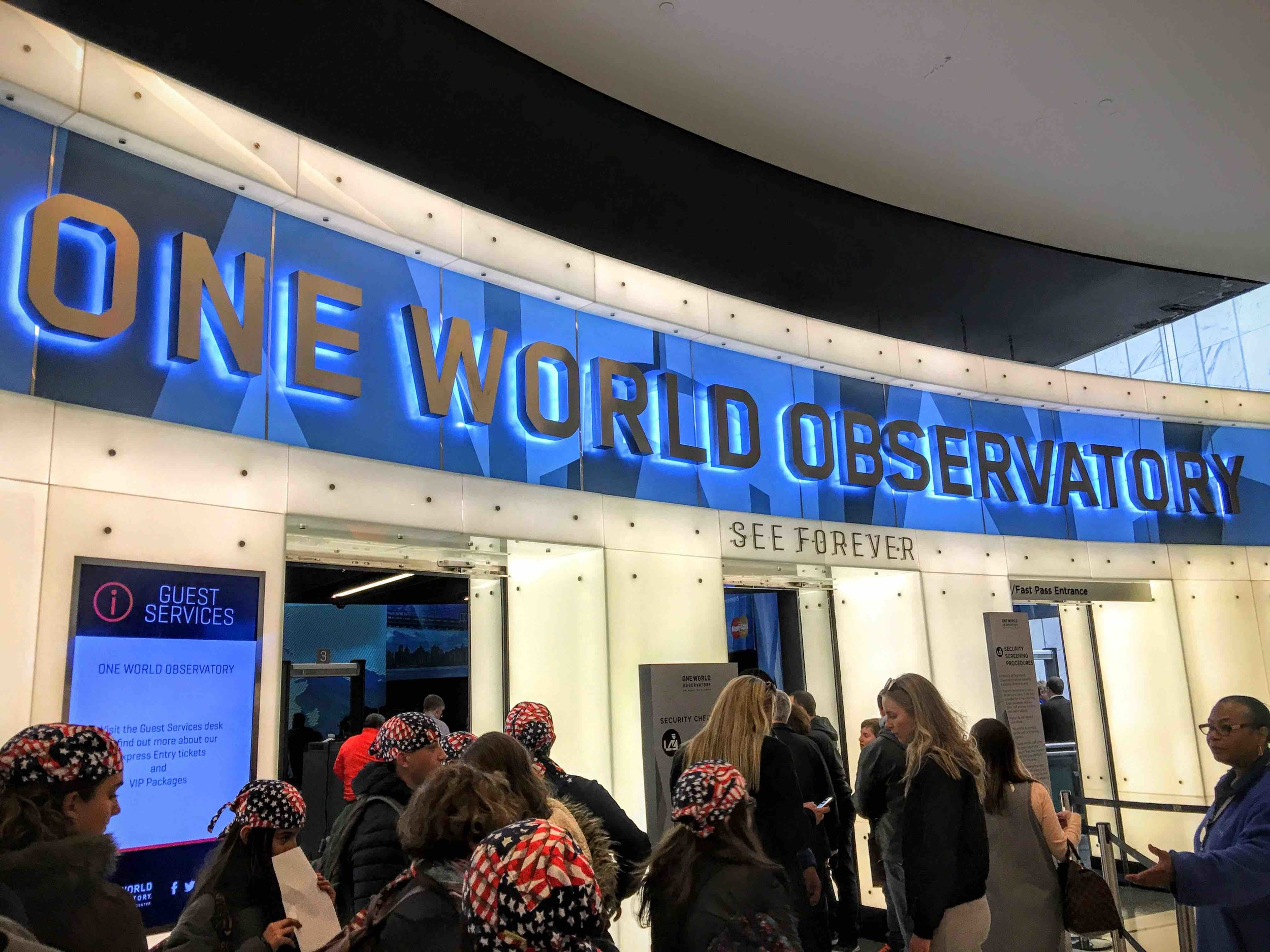 The entrance of the One World Observatory (OWO)