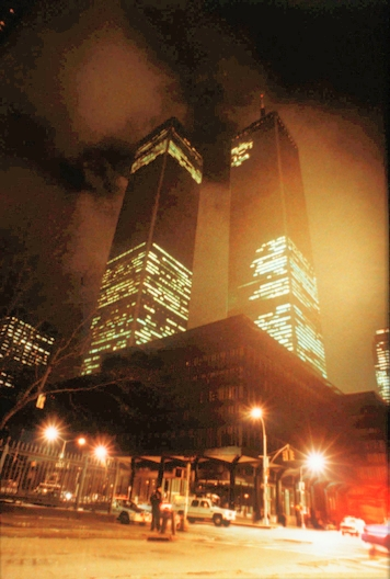 The   1993 World Trade Center bombing  was the first terrorist attack on the   World Trade Center  , carried out on February 26, 1993, when a  truck bomb was detonated below the   North Tower  of the World Trade Center in  New York City .  This was the first attack on American soil since Pearl Harbor, said the FBI.