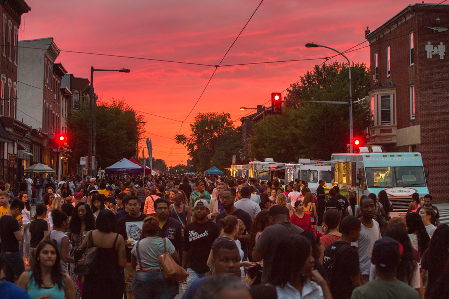 Night Market Philadelphia brings an evening of food truck noshing, live music and outdoor entertainment to Callowhill this June. (Image credit: D. Tavani for Night Market)