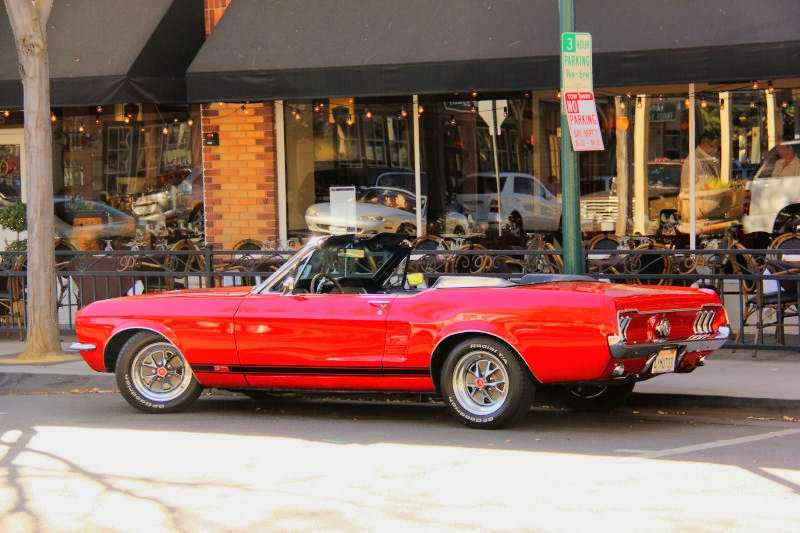 1968 convertible Ford Mustang, a classic