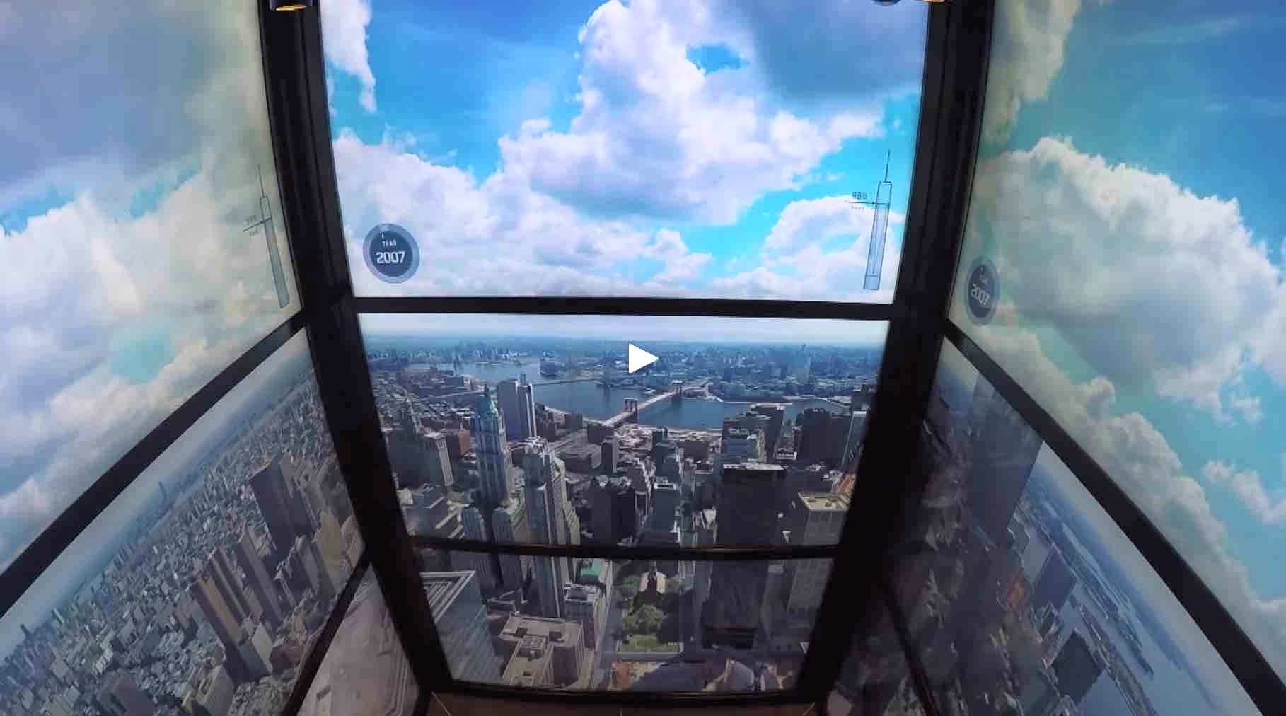 Click to enjoy in a fantastic elevator ride to the 102nd floor of One World Trade Center