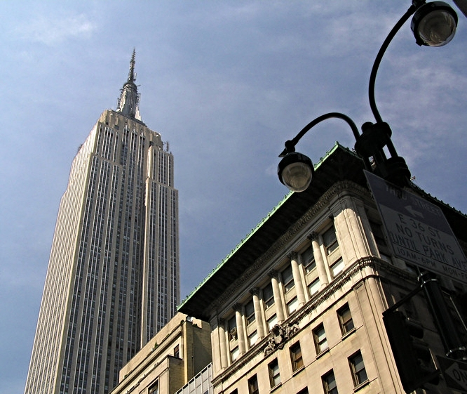 The Empire State Building seen from 34th Street