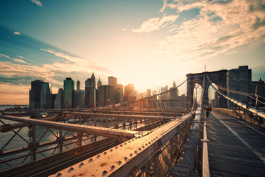 Crossing the Brooklyn Bridge  feels like therapy: you can watch the sunrise, the sunset, photograph Freedom Tower, The Empire State Building, Brooklyn Bridge Park, Manhattan Bridge, and then, when it's summer, get an ice cream in DUMBO