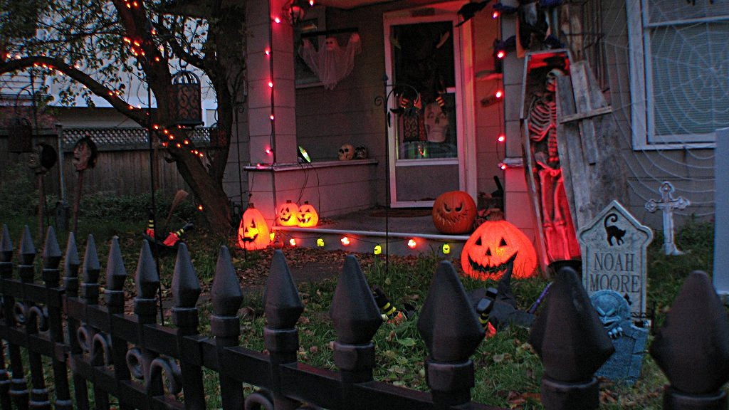 Halloween decorations in Brooklyn, New York