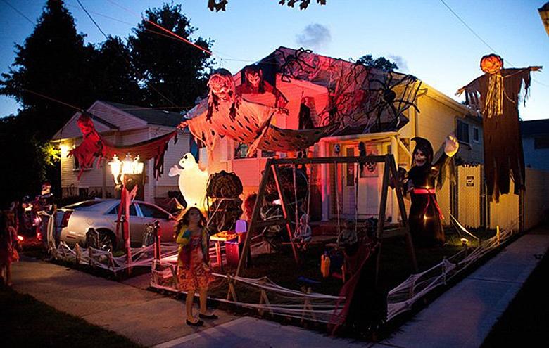 Halloween decorations in Staten Island, New York