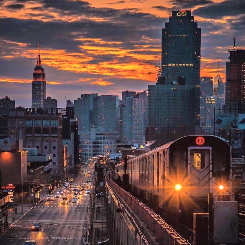The 7 trains takes you to several places in Queens: Long Island City waterfront, Citi field, U.S. Open, Flushing-Meadow Park, and the Billie Jean Tennis National Center. To go to Astoria, take the N or W trains. This photo was taken from 40th Street stop.