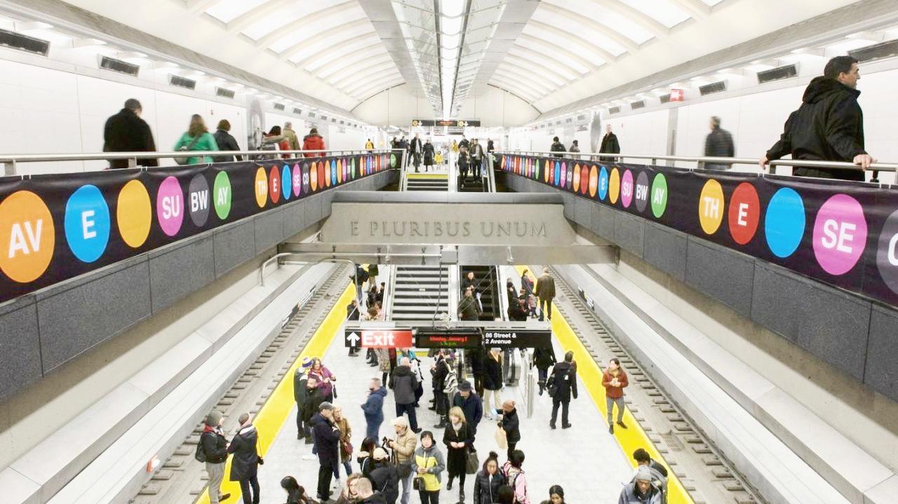 The new 86th Street Q train station, 2017  (Photo: Lucas Compan)