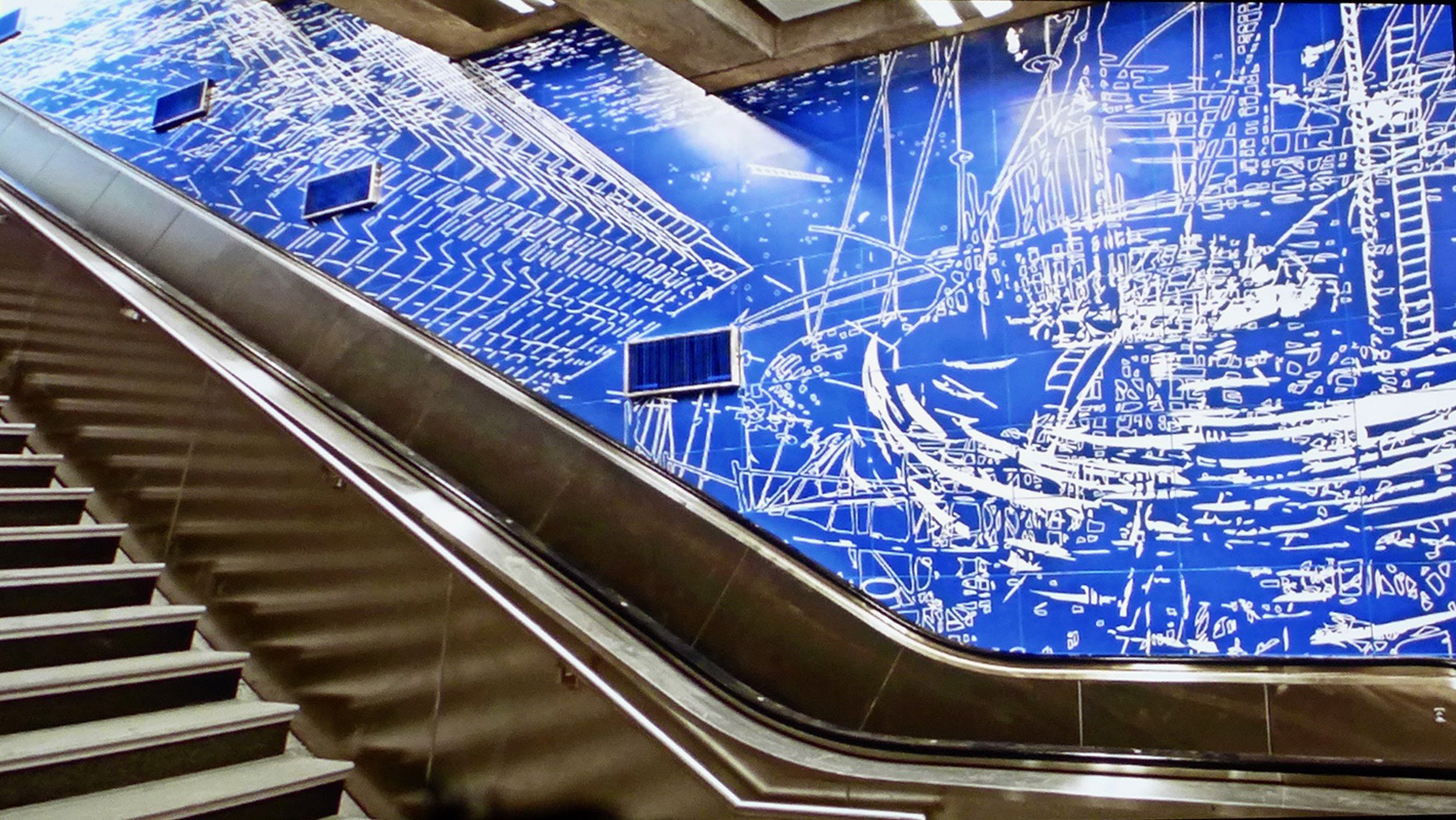 Sarah Sze's art installation at Second Avenue and 96th Street new subway station