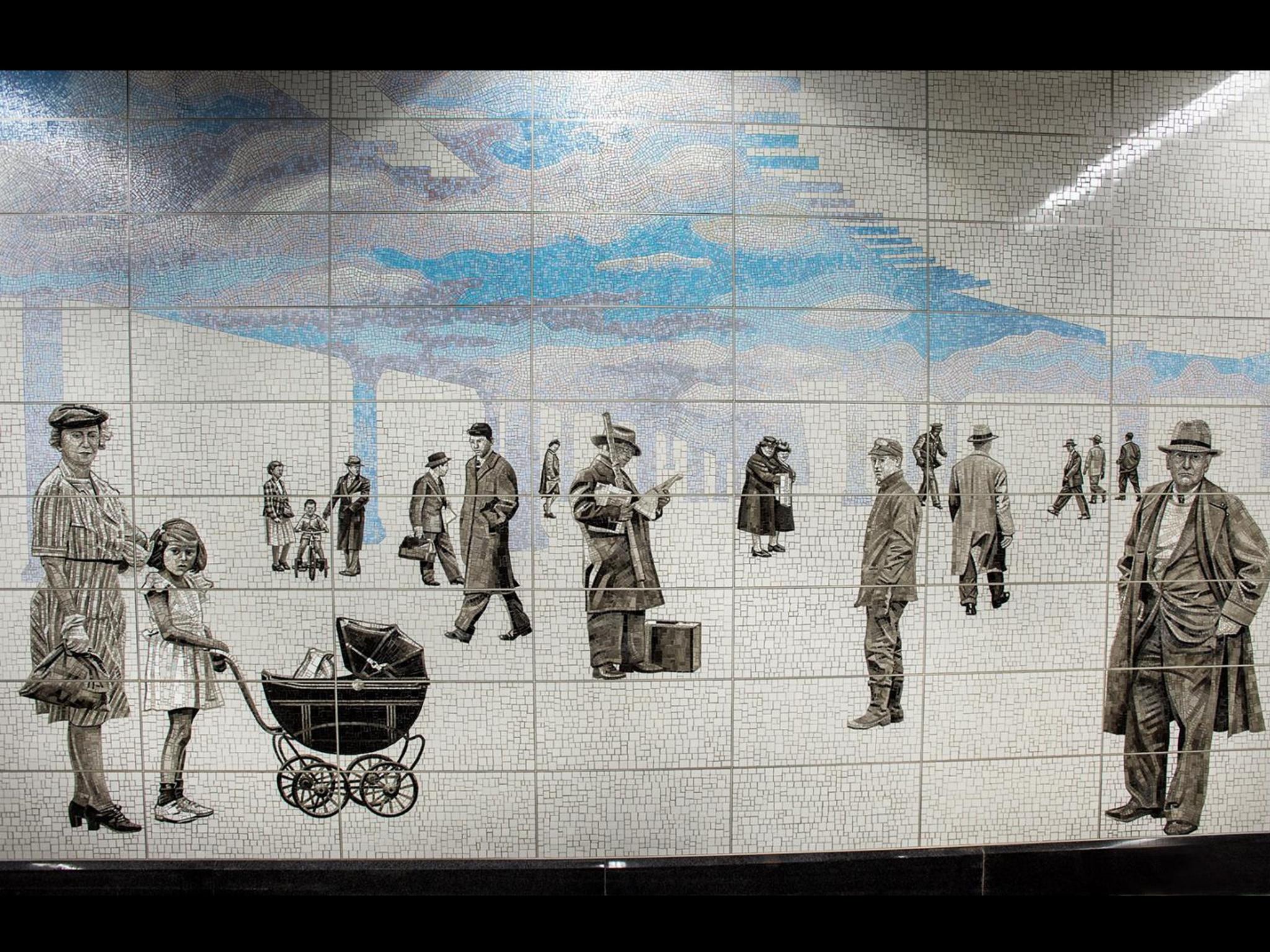 Shin's art installation on Second Avenue x 63rd Street station