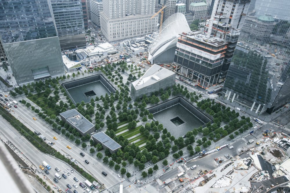 The new World Trade Center site: 9/11 National Memorial, Freedom Tower, and 9/11 Memorial Museum ( 2016 )