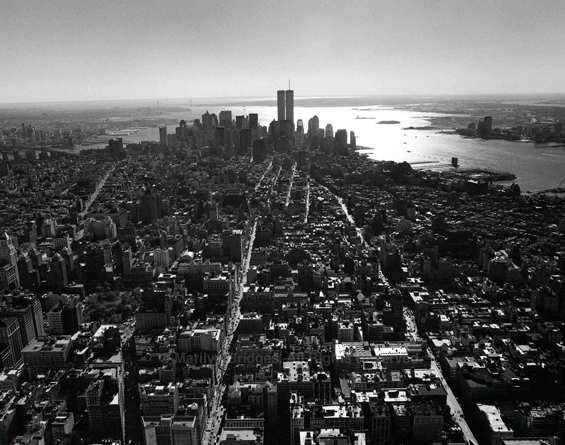 View from the Empire State Building observation deck at the 86th floor. (2000 – Image credit: Marylin Bridges Photography)