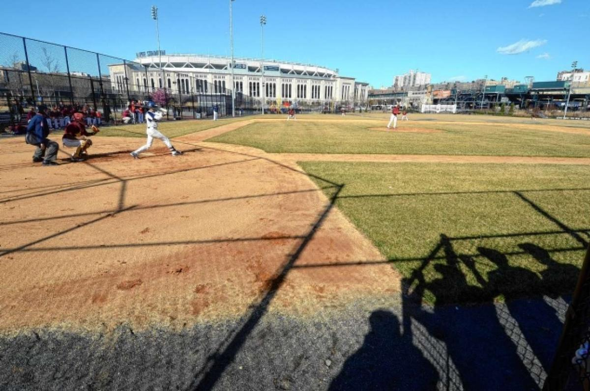 Former Yankee Stadium site – In footprint of old Yankee Stadium, Macombs Dam Park gives local kids a field to shine on