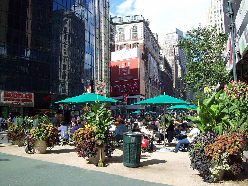 Pedestrian Mall on Herald Square at Macy's