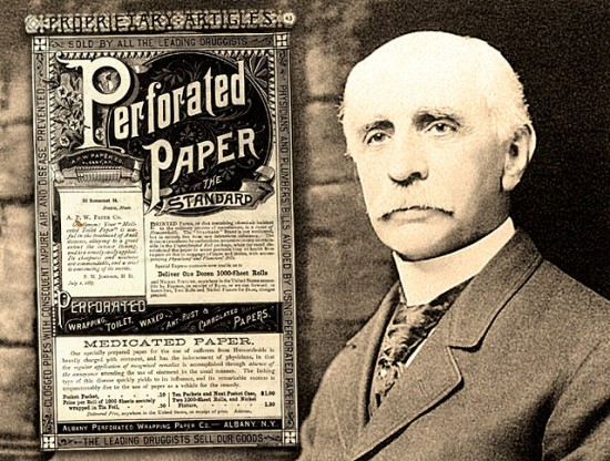 Joseph C. Gayetty (b. 1827? Massachusetts - d.__ ) was an American inventor credited with the invention of commercial toilet paper.It was the first and remained only one of the few commercial toilet papers from 1857 to 1890 remaining in common use until the invention of splinter-free toilet paper in 1935 by the Northern Tissue Company