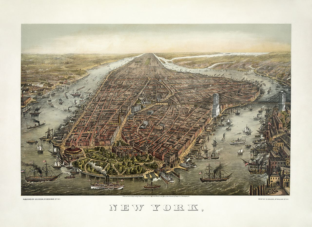 Source: Wikipedia and New York Public Library (images below)