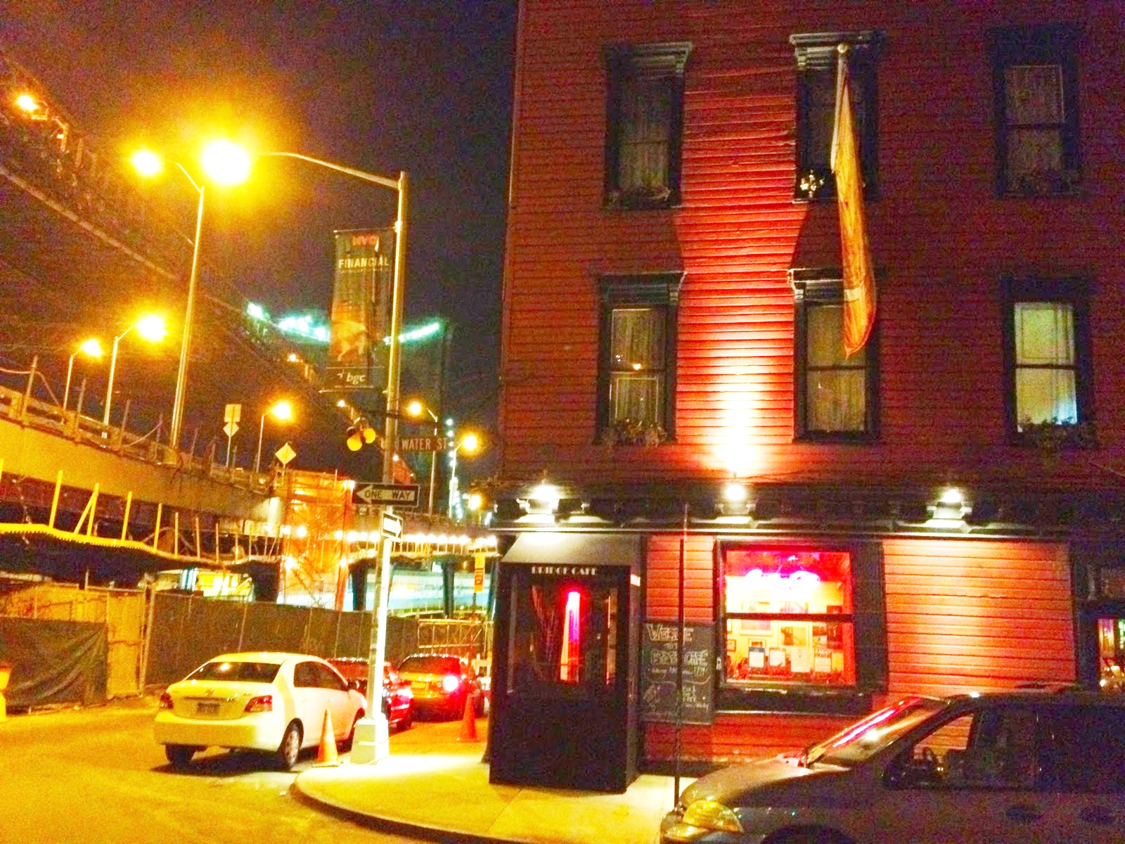 Bridge Cafe is an historic restaurant and bar located at 279 Water Street in the South Street Seaport area of Manhattan.