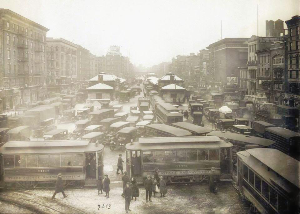 Chinatown    from    Williamsburg Bridge    (1923) | Image:New York City, Department of Records
