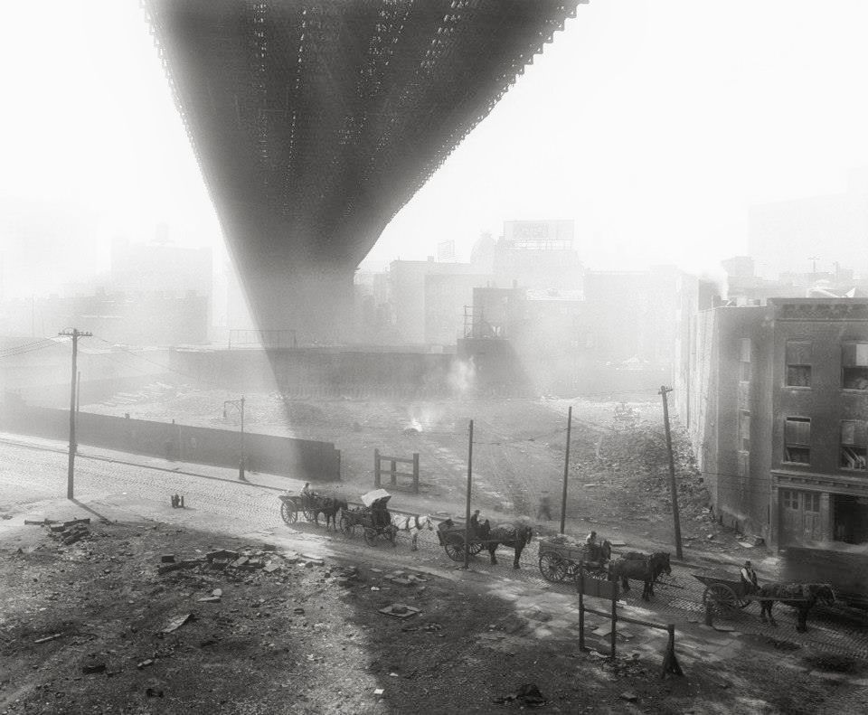 DUMBO    and the Brooklyn Bridge (1918) | Image:New York City, Department of Records