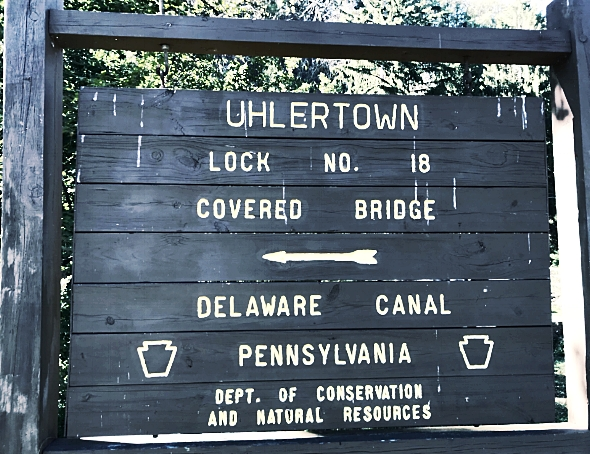 Uhlertown Covered Bridge along the Delaware Canal in Bucks County PA