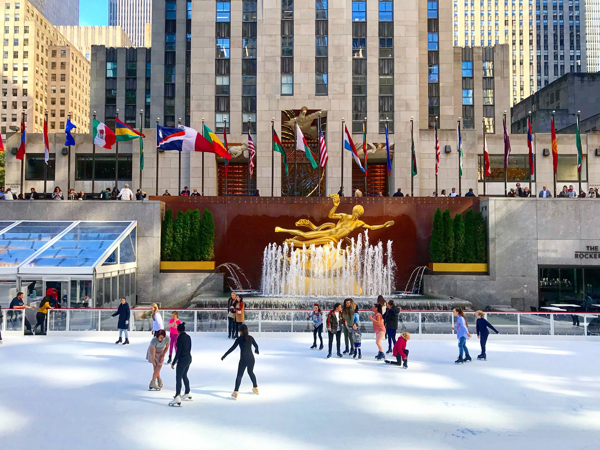 The Rockefeller Ice-Skating Rink