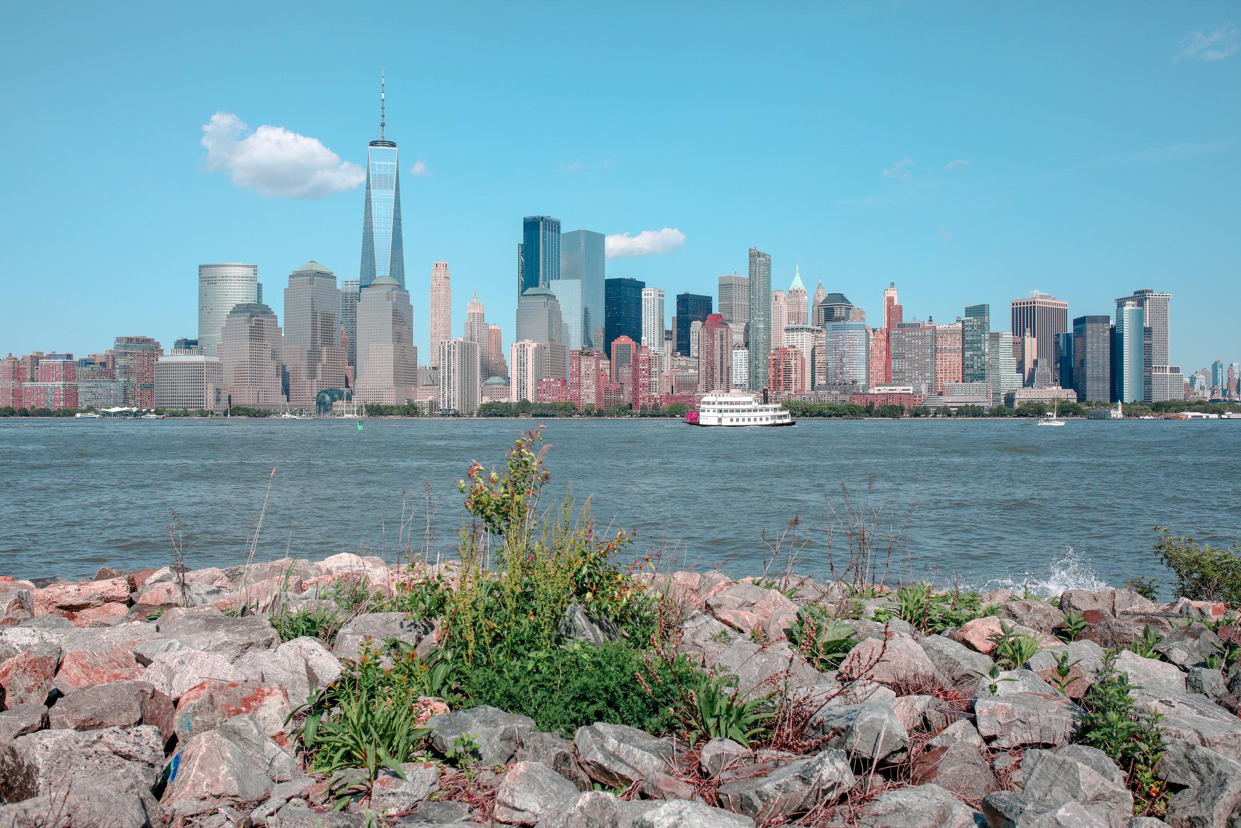 View From Liberty Landing Park in New Jersey