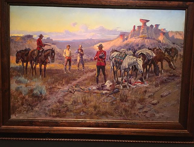 "Stopped by the Charlie Russell museum in Great Falls. The ""Return to Calgary"" exhibit had some real gems."