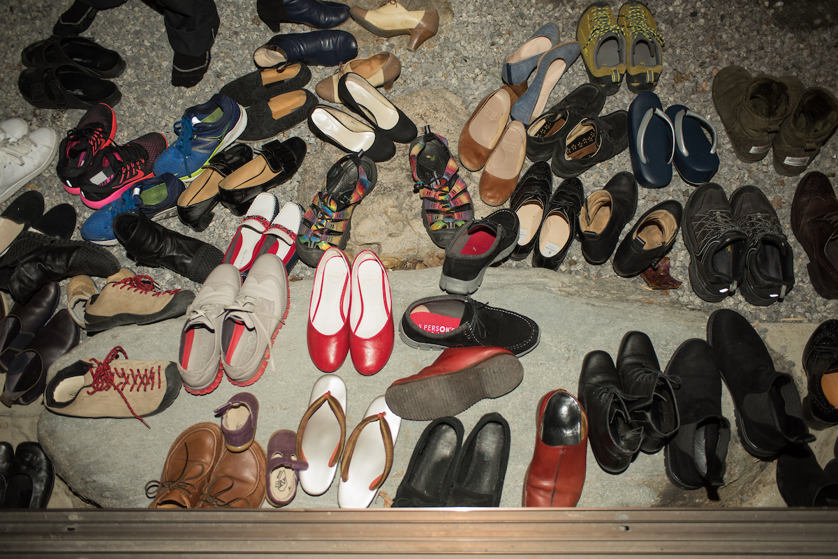 Diners' shoes