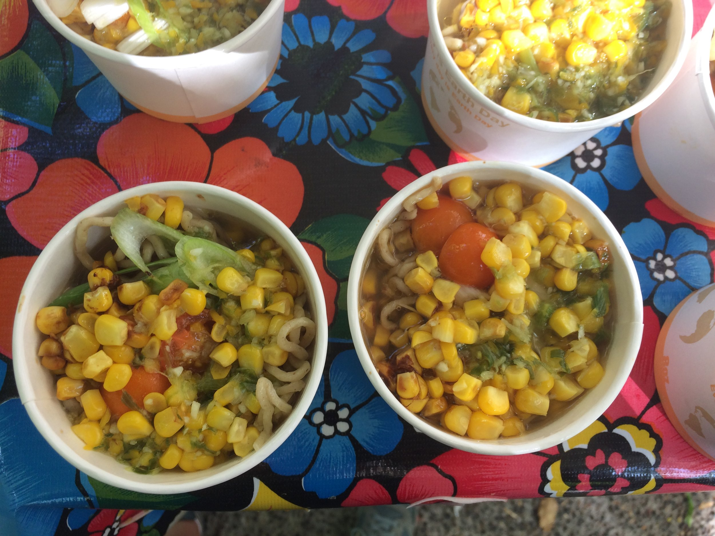Small samples we dished out at the Portland Farmers Market when we demoed this dish in early September.
