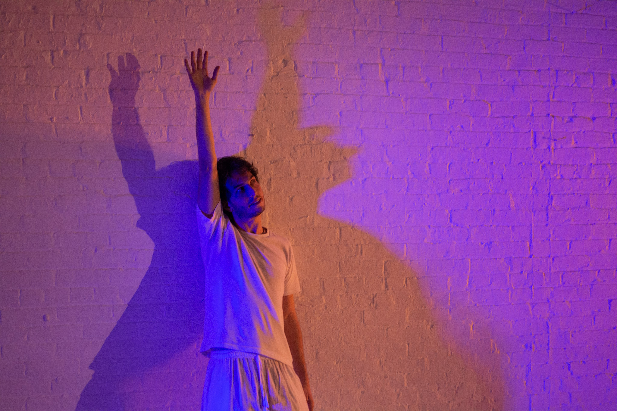 Writer/performer David Sauvage in EMPATH at TheaterLab last April.