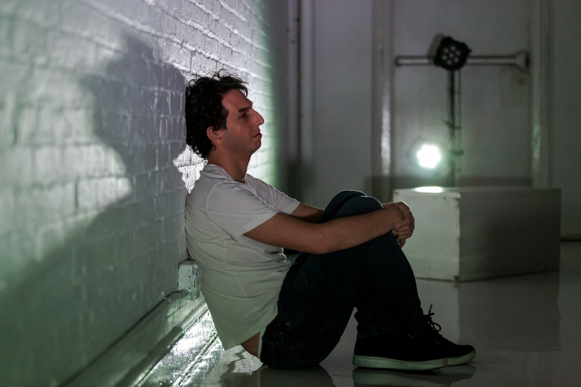 David Sauvage in EMPATH at Theaterlab. Photo by Mark Abramson.