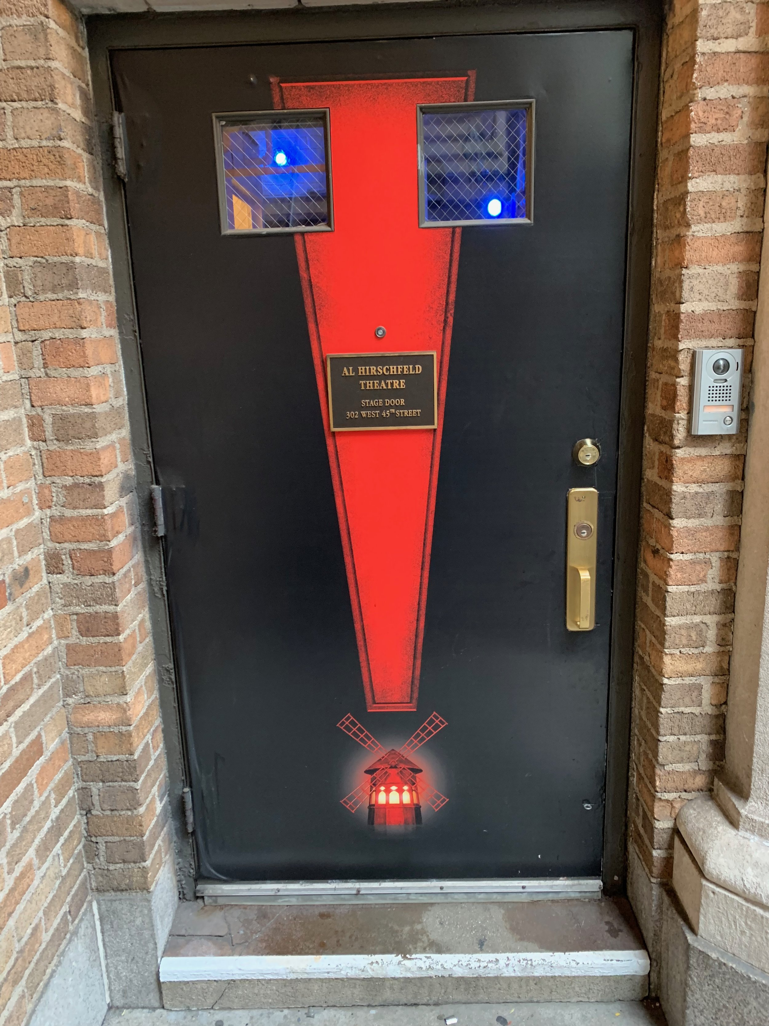 7/18/19 - Heading through this door for our final preview rehearsal at Moulin Rouge!