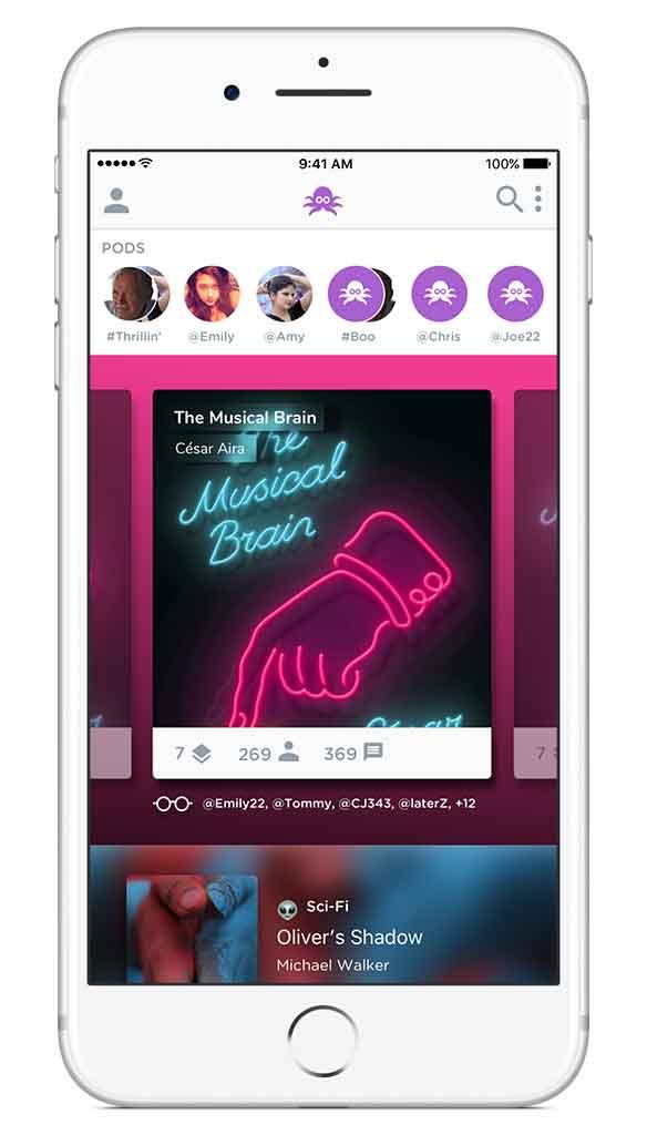 Redesign homescreen for Inklo app
