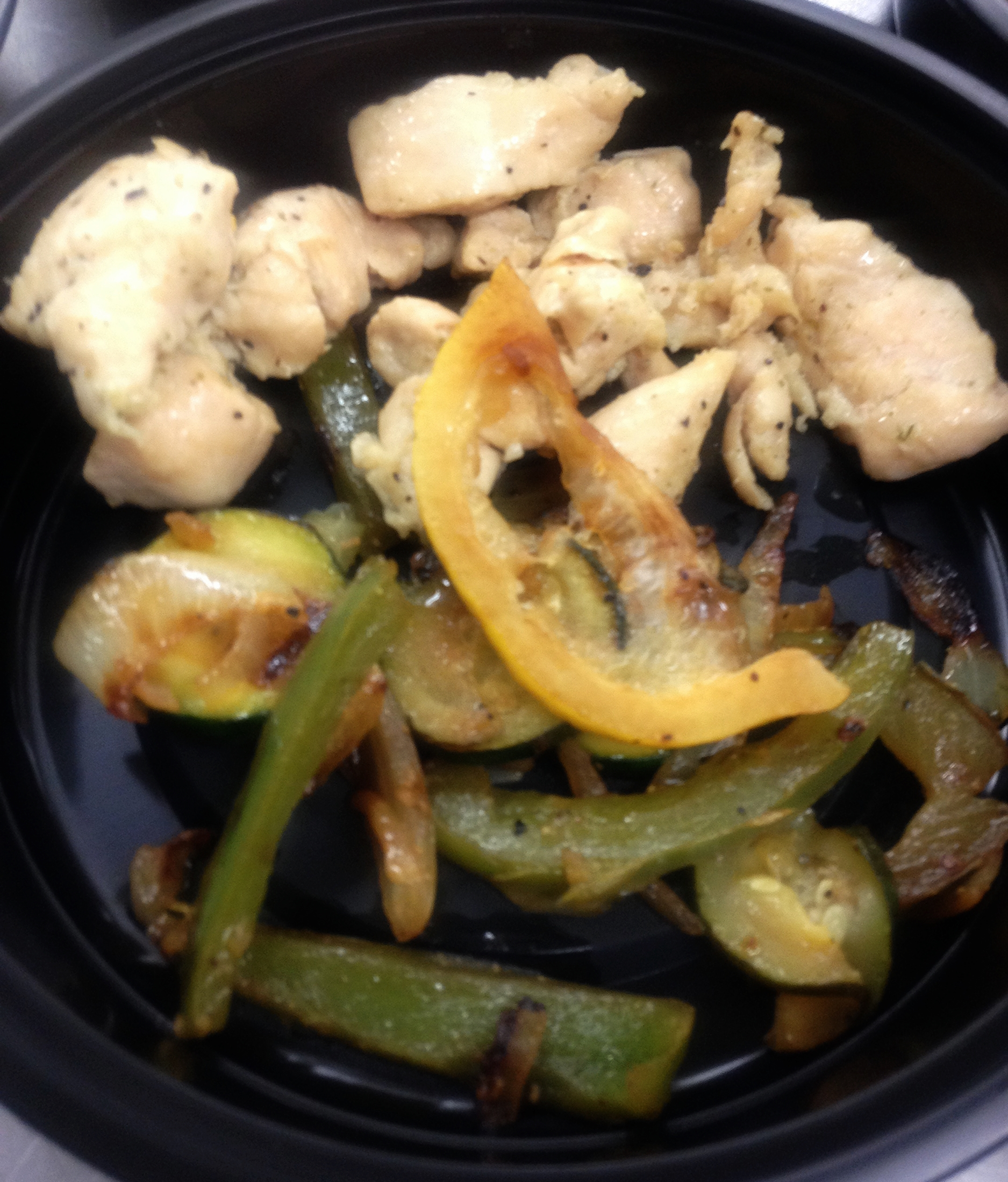 Lunch: Free Range Chicken Sautéed with Onions and Peppers!
