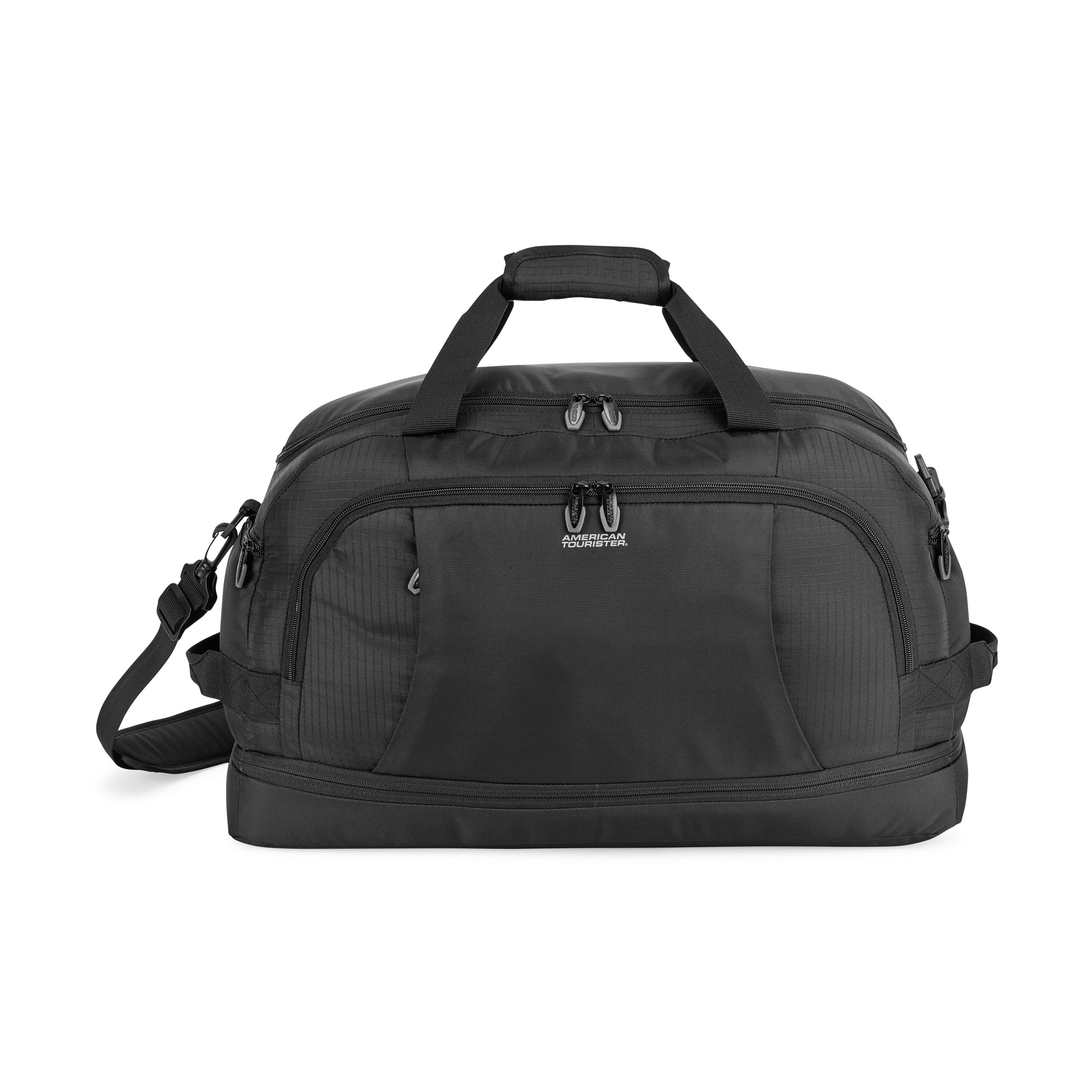Large duffel with wide mouth top opening to allow easy packing.