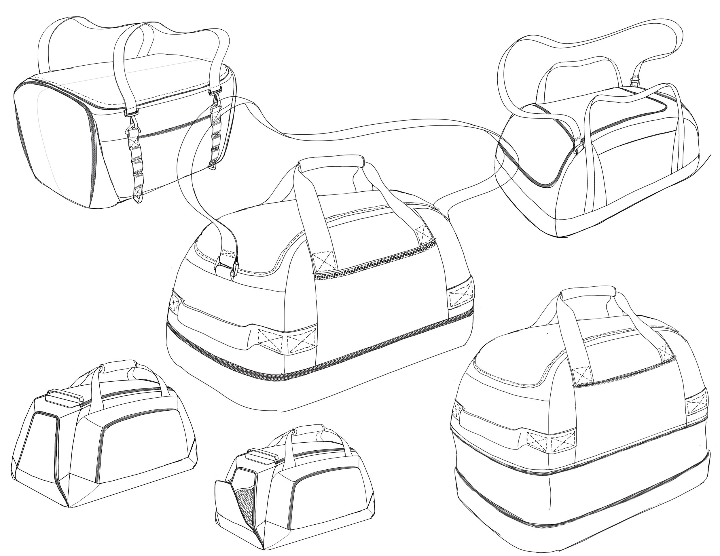 Initial sketches explore different functionality and adaptability.