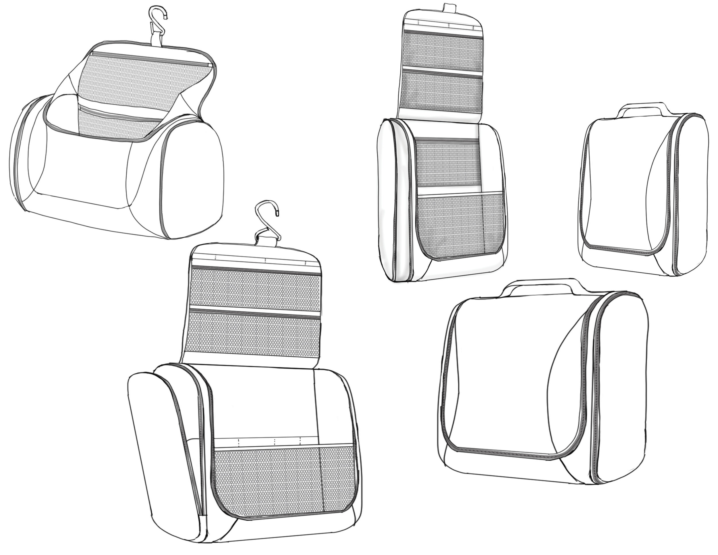 Initial sketches explore organizational options.